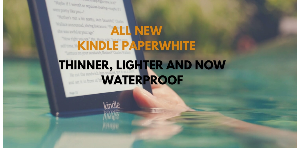 Grab on the latest Waterproof Amazon Kindle Paperwhite!